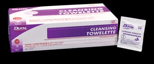 Dukal 858 Cleansing Towelette 5 x 9 100/bx 20 bx/cs