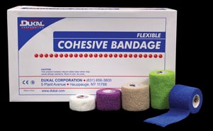 Dukal 8015AS Bandage Cohesive 1 Non-Sterile Assorted Colors 5 yds/rl 30 rl/bx