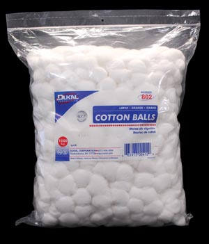 Dukal 801 Cotton Balls Medium 2000/bg 2 bg/cs