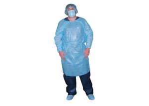 Dukal 303BL Isolation Gown Impervious Blue 10/bg 5 bg/cs