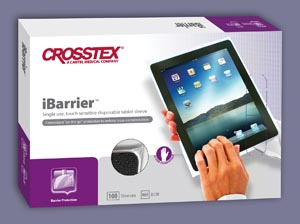 Crosstex BCIB Plastic Barrier Cover For iPads/ Tablets 100/bx 10 bx/cs