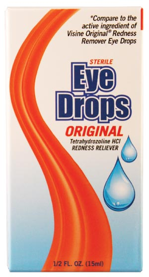 Redness Remover Eye Drops, 0.5 oz,  Compared to the Active Ingredients of Visine Original Redness Remover Eye Drops, 48/cs