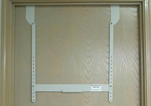 "Bowman MB-450 Fire Door Hanger For Protection Organizers Holds Protection Organizers at Adjustable Heights Attaches at Top of Fire Door 22G Quartz Powder Coated Metal 26 1/8W x 29 1/2""H x 2 15/16""D (Made in USA)"