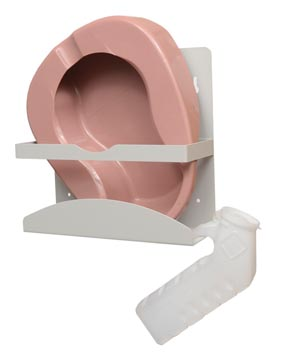"Bowman NC001-0512 Bedpan/ Urinal Dispenser Holds Standard Size Bedpans Urinals & Specimen Collection Containers Keyholes For Wall Mounting Quartz Powder Coated Aluminum 12 5/16W x 12""H x 4 11/16""D 4/cs (Made in USA)"