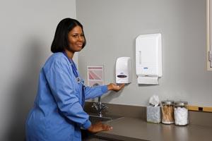 Kimblery-Clark 92144 Dispenser Skin Care Cassette White 1000mL Refills Sold Separately: See Kimberly-Clark Healthcare to view refill items for the Cassette Skin Care System