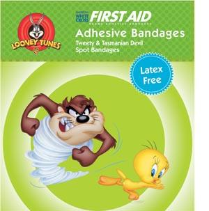 Dukal 1079797 Tasmanian Devil & Tweety Adhesive Bandage 7/8 Spot 100/bx 24 bx/cs
