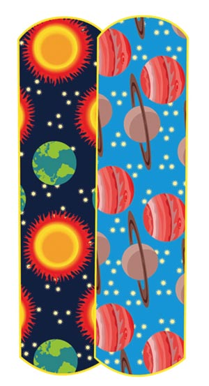 "Dukal 15650 Planets & Stars Adhesive Bandage  3/4 x 3"" 100/bx 12 bx/cs"