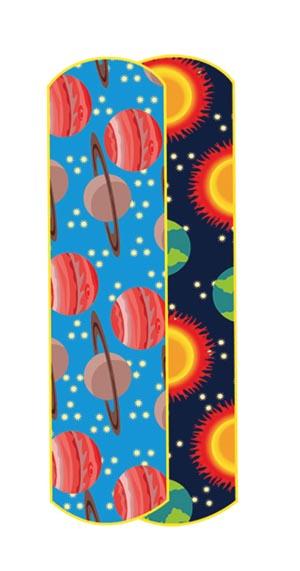 "Dukal 15661 Planets & Stars Adhesive Bandage 5/8 x 2 1/4"" 100/bx 12 bx/cs"