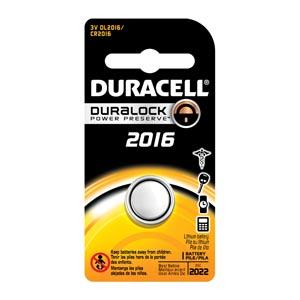 Battery, Lithium, Size DL2016, 3V, 6/bx (UPC# 66175)