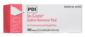IO-GONEIodine Remover Pad, 1/pk, 100 pk/bx, 10 bx/cs
