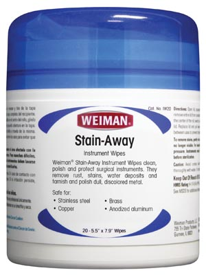 Micro-Scientific IW20 Stain-Away Instrument Wipes 20-Ct 6/pk