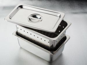 "Instrument Tray Only, 10.23"" x 6.29"" x 3.93"", Stainless Steel"