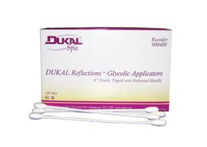 Dukal 900400 Glycolic Applicator 8 Dual Tip Non-Sterile 100/bx 10 bx/cs