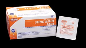 Dukal 856 Sting Relief Pad Medium 2-Ply 200/bx 20 bx/cs