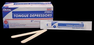 Dukal 9001 Tongue Depressor Junior 5 1/2 Non-Sterile 500 pc/bx 10 bx/cs
