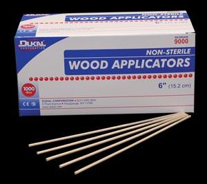 Dukal 9000 Applicator 6 Wood 1000/bx 30 bx/cs