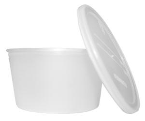 Dukal DCPC Denture Cups  w/ Caps Translucent in color 250/cs