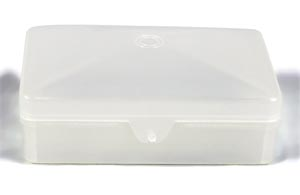 Dukal SB01C Soap Box Plastic with Hinged Lid Clear Holds Up to #5 Bar 1/pk 100/cs