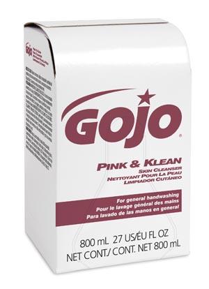 GOJO 9128-12 Pink & Klean Skin Cleanser 12/cs