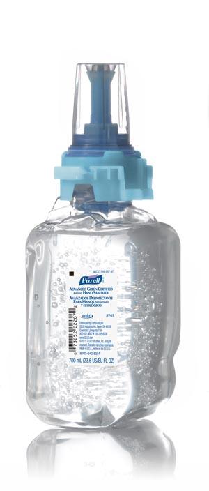 GOJO 8703-04 ADX Instant Hand Sanitizer 700mL 4/cs