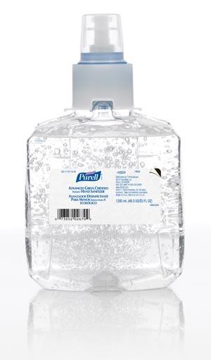 GOJO 1903-02 LTX Instant Hand Sanitizer 1200mL 2/cs