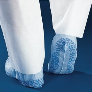 Shoe Cover with Traction, Blue, X-Large, 100/bx, 3 bx/cs