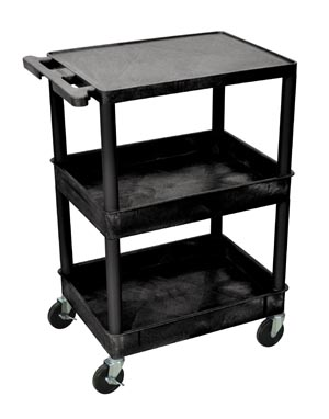 "Utility Cart, Shelf Clearance 12"", 18""D x 24""W, Gray"