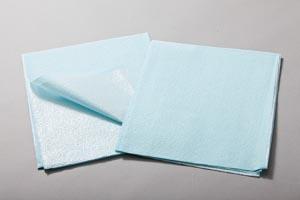 "Drape Sheet, Tissue/ Poly, 30"" x 48"", Blue, 100/cs"