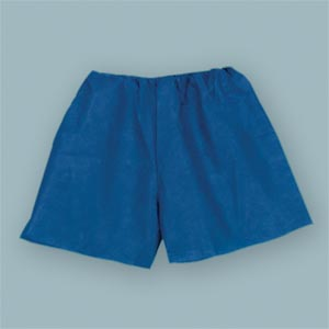 "Exam Shorts, Non-Woven, X-Large 38""-48"", Dark Blue, 25/bg, 4 bg/cs"
