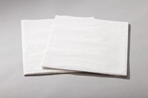 "Drape Sheet, Patient, 36"" x 48"", 2-Ply Tissue, White, 100/cs"