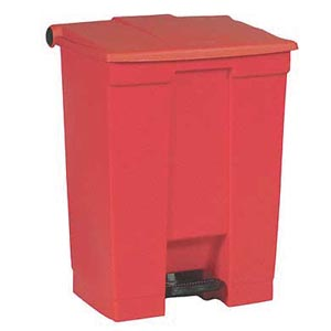 Bunzl 17700145 6145 Step-on Waste Container 18 Gallon Red