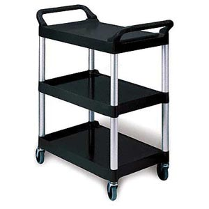 Bunzl 17703426 3424 Utility Cart Black