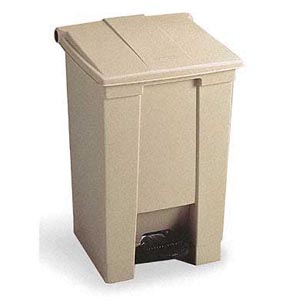 Bunzl 17704461 6144 Step-on Waste Container 12 Gallon Beige