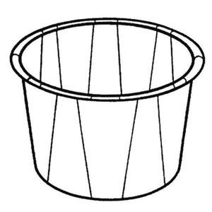 Bunzl 34785050 Paper Med Cup  1/2 oz White 250/slv 20 slv/cs