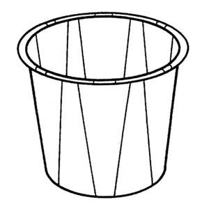 Bunzl 34785075 Paper Med Cup  3/4 oz White 250/slv 20 slv/cs