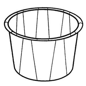 Bunzl 34785100 Paper Med Cup 1 oz White 250/slv 20 slv/cs