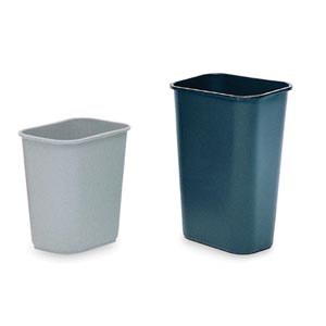 Bunzl 177008481 2956 Wastebasket Rectangular 28 Qt Gray