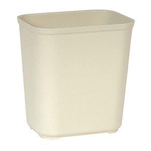 Bunzl 177025431 2543 Fire Resistant Wastebasket 28 Qt Beige