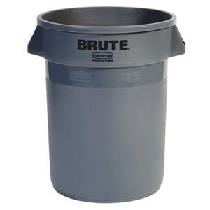 Bunzl 177077201 Plastic Brute Container Gray No Lid 32 Gal