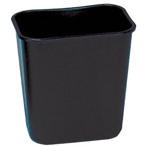 Bunzl 177078511 2956 Wastebasket Rectangular 28 Qt Black