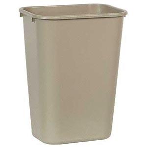 Bunzl 177078541 2957 Wastebasket Rectangular 41 Qt Beige