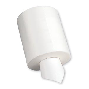 "Georgia-Pacific 44500 Centerpull Wiper Airlaid Light Medium Duty White 200 ct Per Roll 9 x 13¼"" 6/cs"