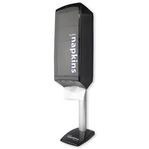 Georgia-Pacific 54223 Napkin Dispenser Wall or Pole Mount Tower Smoke/ Black