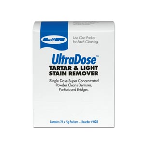 UltraDose Tartar & Light Stain Remover Powder, 1 oz Packet, 24/bx, 6 bx/cs