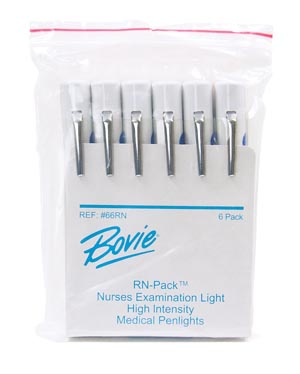 Bovie 66RN RN Pack Disposable Penlight Pupil Gauge 6/pk