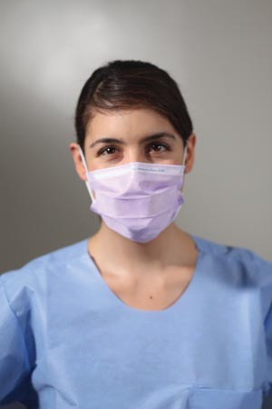 KC100 Procedure Mask, ASTM Level 1, Earloops, Lavender, 50/bx, 10 bx/cs