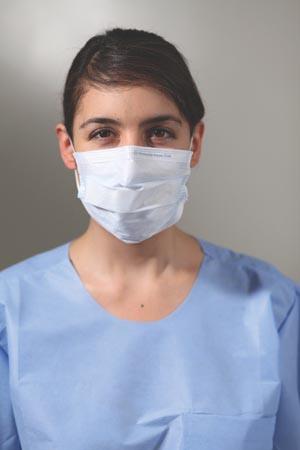 KC100 Procedure Mask, ASTM Level 1, Earloops, Blue, 50/bx, 10 bx/cs