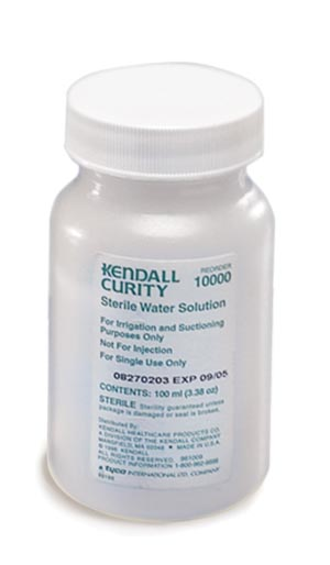 Cardinal Health 1024 Sterile Water 100mL Bulk 48/cs