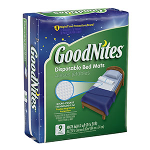 MATS BED GOODNITES DISPOSABLE9/PK 4PK/CS
