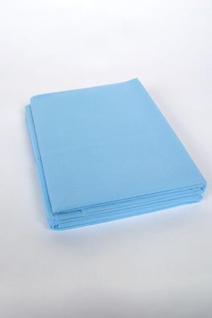 "ADI Medical 36702S Fitted Cot Sheet Standard Weight Medium Blue 30 x 72"" 85 grams 50/cs"